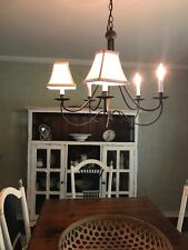 CHANDELIER LAMP SHADES (5) SILK LIKE CREAM FABRIC 3 X 5 X 6