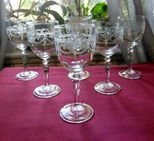 6 verres a vin  en cristal d arques modèle dampierre H 14,5 cm