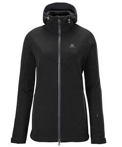 Jacket Ski Jacket Salomon Snowflirt 3:1 Jacket W, Ladies, Black Grey, Padded