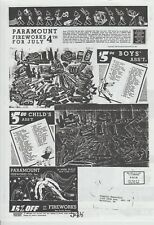 1937 Paramount Fireworks Firecracker Catalog Reprint New Your, Ny