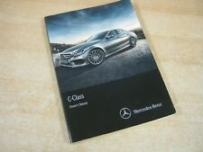 MERCEDES C CLASS SALOON !!! OWNERS MANUAL HANDBOOK  2013-2017
