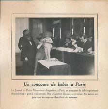PHOTO PRESSE c. 1910 - Concours de Bébés à Paris  - 176