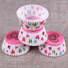 100 pcs Colorful Paper Cake Cupcake Liner Case Wrapper Muffin Baking Cup