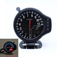 3 In 1 Car Auto Gauge Kit Oil Pressure RPM Tachometer Water Temp W/ Bracket