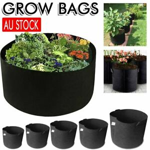 Pack of 10 Fabric Grow Pots Breathable Planter Bags 1/2/3/5/7/10 Gallon Bags