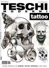 Diseño Contemporáneo Calaveras Tatuaje Flash Libro-dotwork, blackwork & Tradicional