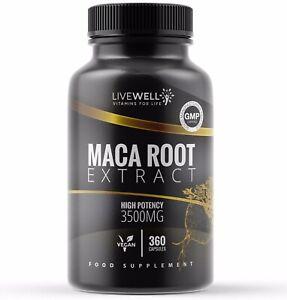 Maca Root 3500mg Vegan Capsules | Fatigue – Stamina – Energy – Natural tablets