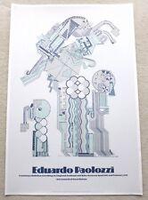 Eduardo Paolozzi Original 1976 Touring Kunst Ausstellung Poster Vintage