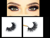 1Pair Thick False Eyelashes 3D Mink Wispy Cross Long Soft Fake Eye Lashes Makeup
