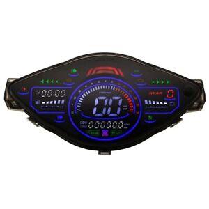 Universal Motorcycle LCD Speedometer Digital Odemeter Meter Tachometer Gauge for