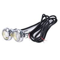 2X 23Mm Led Eagle Eye Blanc Jour Courir Drl Light Tail Voiture Auto 10W 12V