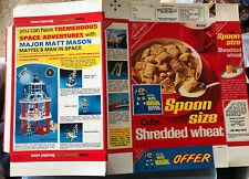 Major Matt Mason 1969 original caja de cereales paquete sin usar escaso Nabisco vacío