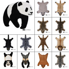 Faux Fur Print Animal Skin Hide Pelt Plush Rug Mat Carpet Home Decor
