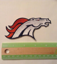 """Denver Broncos embroidered, 4.25"""" by 1.75""""  iron on patch, NFL, football new"""