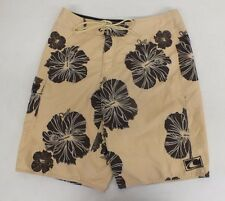 O'Neill Beige Hibiscus Flower Patterned Board Shorts Size 32 GREAT Fast Shipping