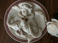 Sarah's Angels #30810 Faith 3D Plate Praying Angel Handmade 9.75 D