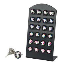 12Pair/Set Unicorn Stud Earrings Set Horse Animal Earring Girl Trinket Gift N7