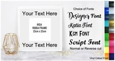 Vinyl Sticker DIY Box Frame VINYL LETTERING - Add your own Text SPACE FOR PHOTO