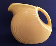 "Vintage Genuine Fiesta H-L-Co Yellow Juice Pitcher 5-3/4"" Tall by 6-1/2"" Wide"