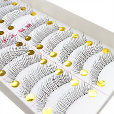 10Pairs Makeup Handmade Soft Natural Fashion Long False Eyelashes Eye Lashes