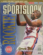 Sportslook March 1995 Magazine Detroit Pistons Grant Hill NBA Cover - New Sealed
