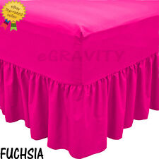 Plain Deep Fitted Valance Sheet Poly-Cotton Bed Sheet Single Double King s.king