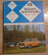 revue technique l'expert automobile N°98 AUDI 80 + 1 FICHE TECHNIQUE