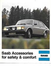 SAAB sicurezza e comfort auto accessori BROCHURE DI VENDITA 1977