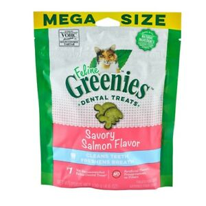 Feline Greenies Dental Chews for Cat Reduce tartar & plaque 4.6oz Mega size