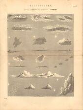 1868 PRINT ~ METEOROLOGY ~ INOSCULATIONOF CLOUDS - SHADOWS