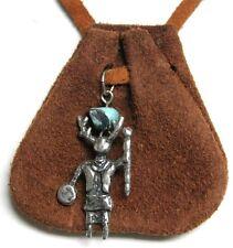 Native Am bag (holding staff and shield) - mahogany