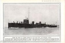 World War 1 Print Vintage 1914 Rammer Sinker Destroyer Badger