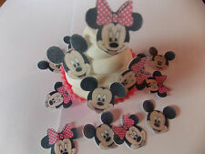 24 PRECUT MINI MINNIE e MICKEY wafer commestibile / CIALDE di riso TORTA / decorazioni per cupcake