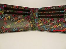 Duct Tape Wallet WITH MULTI COLOR SKATEBOARDS ALL OVER IT  Handmade