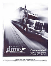 COMMERCIAL DRIVER MANUAL FOR CDL TRAINING (WEST VIRGINIA) ON CD IN PDF PROGRAM.