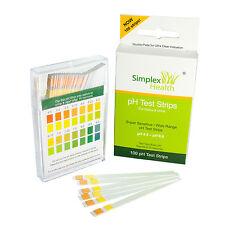 100 Stück SimplexHealth pH Teststreifen Urin & Speichel | pH Indikator