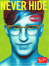PUBLICITE ADVERTISING 094  2009  RAY BAN  lunettes NEVER HIDE homme