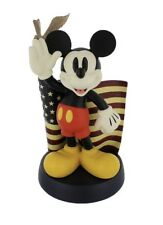 DISNEY MICKEY MOUSE BIG FIG FIGURE MICKEY WITH AMERICAN FLAG WITH EAGLE USA
