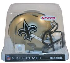 NEW ORLEANS SAINTS RIDDELL NFL MINI SPEED FOOTBALL HELMET