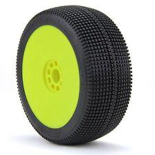AKA Racing 1:8 Buggy Zipps (Soft) EVO Wheel Mounted (Yellow) (2) - AKA14020SRY