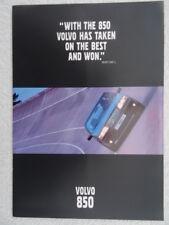Volvo 850 UK brochure 1993 - Saloon and Estate.