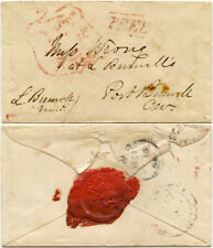 More details for canada 1860 official free govt.. ingersoll port burwell signed leonidas seal+gwr