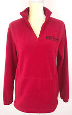 Harley-Davidson Red Fleece Pullover Sweatshirt Long Sleeve Quarter Zip Large