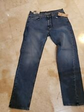 LEVI'S MEN'S 505 Gerades Bein Regular Fit Denim Blau Jeans 36X34 Stretch Nwt