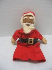 Vintage Hand Crafted Wooden Carved Santa Hand Puppet