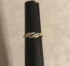 Diamond Swirl Toe Ring Cw 10k Yellow & White Solid Gold