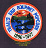 """LMH PATCH Badge 1996 1997 TRAIL'S END GOURMET POPCORN  Boy Scouts Trails BSA  3"""""""