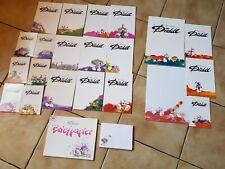DIDDL-Block-Sammlung, Konvolut, 21 Blöcke + Briefpapier + Umschläge