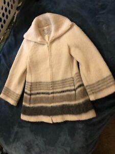 """Vintage Hilda Ltd Laine 100% Wool Sweater Iceland Zip up """"Ladies"""" Small Jacket"""
