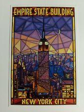 Empire State Building Stain Glass Postcard (E132)